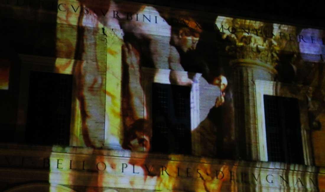 500° Raffaello Sanzio – Video mapping Terminus