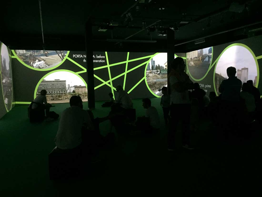 Biblioteca degli Alberti Video installazione Terminus
